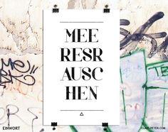 彡 einwort print   meeresrauschen // print by claus-peter-2 via dawanda.com
