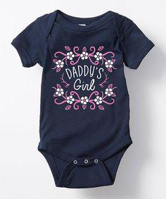 Look what I found on #zulily! Navy 'Daddy's Girl' Bodysuit - Infant #zulilyfinds