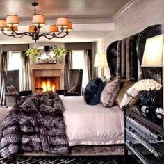 Atlanta Living! #bedding #bedtime #bedroom #mink #fur #interiordesign #chandelier #lighting #pink #grey #rugs #instagram #luxury #luxuriously #slim #lights #candles #romance #hearts #luv #relationship #man #woman #designer #northamerica | Flickr - Photo Sharing!