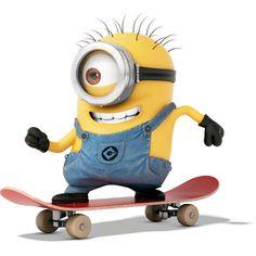 Skateboarding Minion