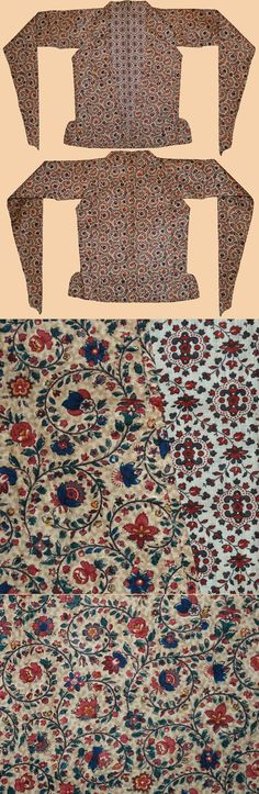 Antique Persian Qalamkar  Jacket. print on cotton  Zand Dynasty  1750 - 1794