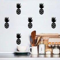 POM muurstickers Ananas zwart