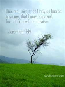 Jeremiah 17 : 14