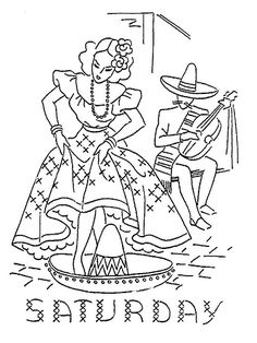 Design 2546 h - Mexican motifs embroidery patterns - by mmaammbr via Flickr