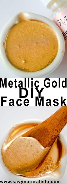 Make this easy Metallic Gold Peel off Mask perfect for spa dates, kids parties and to get rid of those pesky blackheads!!