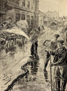 Victorian Health. Image: Washing the streets of Covent Garden to prevent the spread of Cholera, 1894