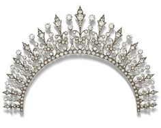 Lot 31 - A late 19th century diamond necklace-tiara combination,
