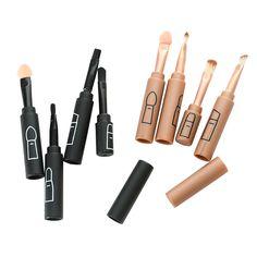 Hot 4 pcs Mini Portable Make Up Brush Set Multifuction Connectable Type Eye Shadow Brush Eye Shadow Tools Makeup Brushes HS1 #Affiliate
