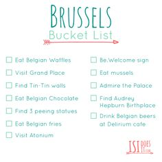Brussels bucket list, things that you have to do in brussels, belgian beer, waffles, chocolate, fries, atonium, delirium cafe and other attractions in brussels