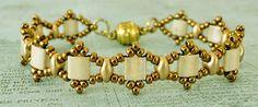 Linda's Crafty Inspirations: Bracelet of the Day: Tallulah Tila - Ivory