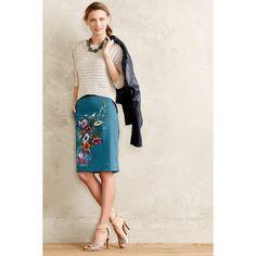 HD in Paris Emerald Garden Pencil Skirt