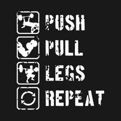 Health Motivation Check out this awesome 'Push Pull Legs Repeat' design on Fitness Motivation Quotes, Health Motivation, Workout Motivation, Bodybuilding Workouts, Bodybuilding Motivation, Bodybuilding Training, Gym Frases, Academia Fitness, Gym Interior