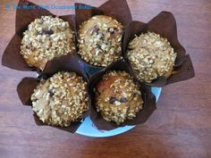 The more than occasional baker: Banana, Peanut Butter and Chocolate Chip Muffins Spice Tins, Pantry Design, Chocolate Chip Muffins, Peanut Butter Banana, Biscuits, Spices, Breakfast, Party Time, Barrel