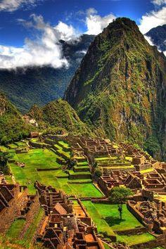 Je vais voyager partout de la monde, un de les places aller etre Machu Picchu