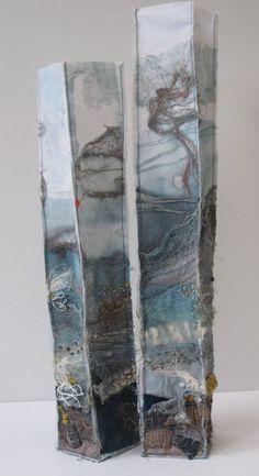 Evan Nesbitt – Textile art So gross ist nun mein Enkelkind. Textile Fiber Art, Textile Artists, A Level Textiles, Landscape Art Quilts, Creative Textiles, Textiles Techniques, Soft Sculpture, Felt Art, Fabric Art