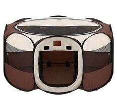 Pet Removable Playpen For Dog Cat Indoor Outdoor Travel Exercise Shade Cover