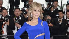 The 77-year-old actress stole the show at The Sea of Trees premiere on May 16, showing off her slim figure in a cobalt Atelier Versace column gown with illusion cut-outs.