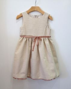 Marie Chantal Beige and Gold Dress (Big) – Petite Étoile Children's Clothing Boutique in Salem, MA