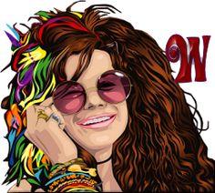 Alfabeto de chica hippy sonriendo.   Oh my Alfabetos!