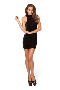 Burned Velvet Go Go Dress - LIMITED › Black Milk Clothing