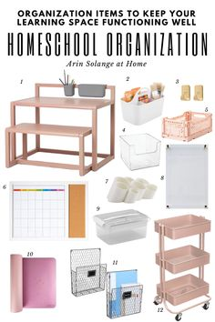 stylish ways to organize your home for a functional homeschool space! #homeschool #organization #homeschoolorganization Acrylic Board, College Apartments, Storage Caddy, School Routines, Home Safes, College Hacks, Learning Spaces, Going Back To School, Kids Reading