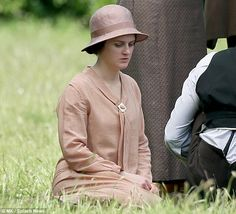 Sophie McShera as Daisy, village scenes series final filming, June 2015..