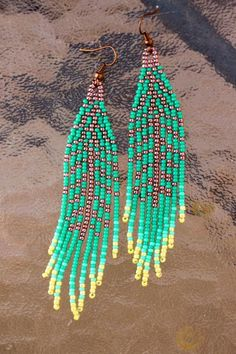 Indian style 160511174197429731 - ~Native American Seed Bead Earrings~Tribal~Native Indian Jewelry~ ♥ ♥ ♥ ♥ ♥ ♥ ♥ ♥ ♥ ♥ ♥ ♥ ♥ ♥ ♥ ♥ ♥ ♥ ♥ ♥ ♥ ♥ ♥ ♥ ♥ ♥ ♥ ♥ ♥ ♥ ♥ ♥ ♥ ♥ ♥ ***Free US Source by Seed Bead Jewelry, Seed Bead Earrings, Feather Earrings, Beaded Earrings, Seed Beads, Diy Jewelry, Beaded Jewelry, Jewelry Making, Leaf Earrings
