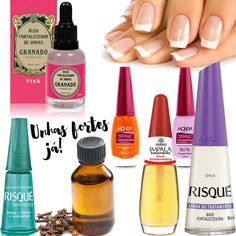 Unhas Fracas: Dicas para fortalecer as unhas - Korean Beauty Routine, Beauty Routines, Hair And Nails, My Nails, Beauty Care, Beauty Hacks, Nail Designer, Nail Ring, Types Of Nails