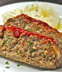 Tender Meatloaf with Spicy Ketchup Recipe for a family favorite dinner - The Hopeless Housewife®