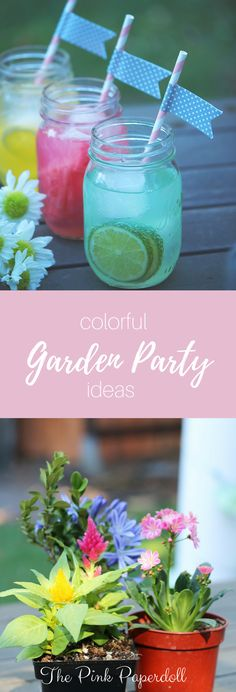 Make it a colorful affair with easy tips for hosting a summer garden party with drinks, flowers and...(click to see more)