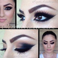 A little black! Beauty Makeup, Eye Makeup, Hair Makeup, Morticia Addams Makeup, Maquillaje Halloween, Black Licorice, Smokey Eye, Makeup Inspiration, Halloween Face Makeup