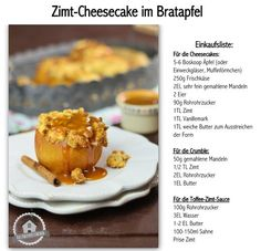 Zimt Cheesecake im Bratapfel