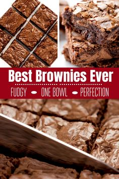 Best Brownies Ever - - This really is the Best Brownie Recipe ever! These homemade brownies are the perfect chewy fudge squares of chocolate. You'll never buy a boxed brownie mix again! Best Brownie Recipe, Basic Brownies Recipe, Easy Moist Brownie Recipe, Ghirardelli Brownie Mix Recipe, Bakery Brownies Recipe, Box Brownie Recipes, Best Brownie Mix, Nutella Recipes, Beste Brownies