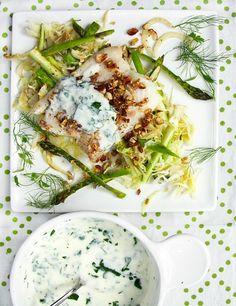 Nordic haddock with shredded veggies