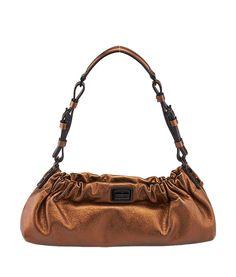 Burberry Bronze Leather Shoulder Bag