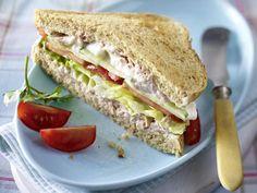 Sandwich-Rezepte - belegte Brote deluxe! - vollkorn-sandwich-thunfisch Rezept