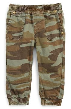 Peek Camo Print Jogger Pants (Baby Boys) available at #Nordstrom