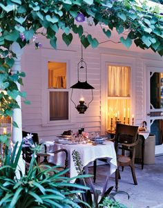 porch for al fresco dining