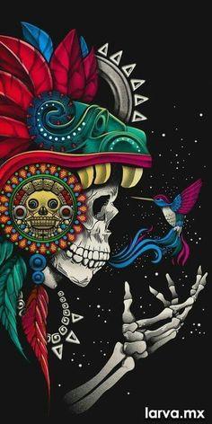 Graffiti Wallpaper, Skull Wallpaper, Graffiti Art, Aztec Wallpaper, Pink Wallpaper, Screen Wallpaper, Aztec Warrior, Mexico Art, Skull Artwork