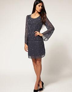 Rise Linear Embellisehd Deco Dress $88