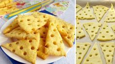 cheese crackers from 4 raw materials 26 best recipes for New Year 's Eve, sticks and rolls NejRecept. No Salt Recipes, My Recipes, Cookie Recipes, Favorite Recipes, Menu Brunch, Tasty, Yummy Food, Snacks Für Party, Biscuit Cookies