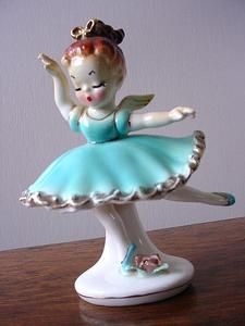vintage ballerina angel figurine