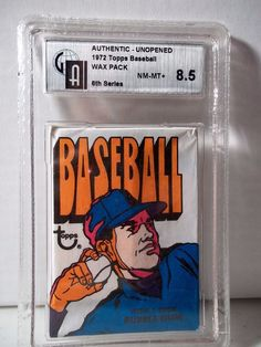 1972 Topps Baseball Wax Pack GAI NM-MT+ 8.5  MLB Collectible Cards 6th Series #MLBCollectible