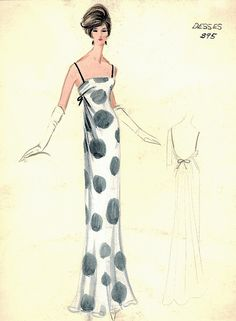 Jean Desses sketches from Bergdorf Goodman