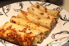 Pancakes with minced lamb