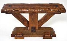 Barnwood Table Sofa Beam Design