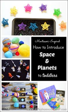 Learning about the space and planets for preschoolers