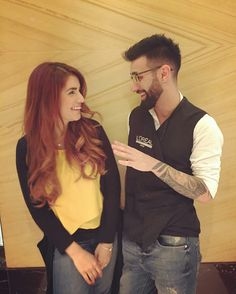 Momina Mustehsan with her Heirstylist.