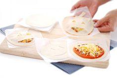 Mini pizzas calabaza con obleas