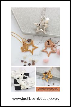 Are you looking for a personalised jewellery gift for a special star? Perfect gift for her birthday or Christmas She will absolutely love this October birthstone star necklace in shiny sterling silver, rose gold or gold vermeil